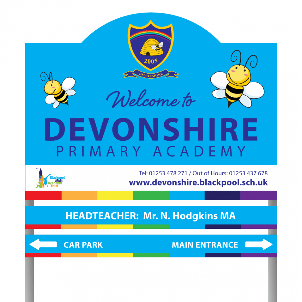 Exterior Signage For Devonshire Road School