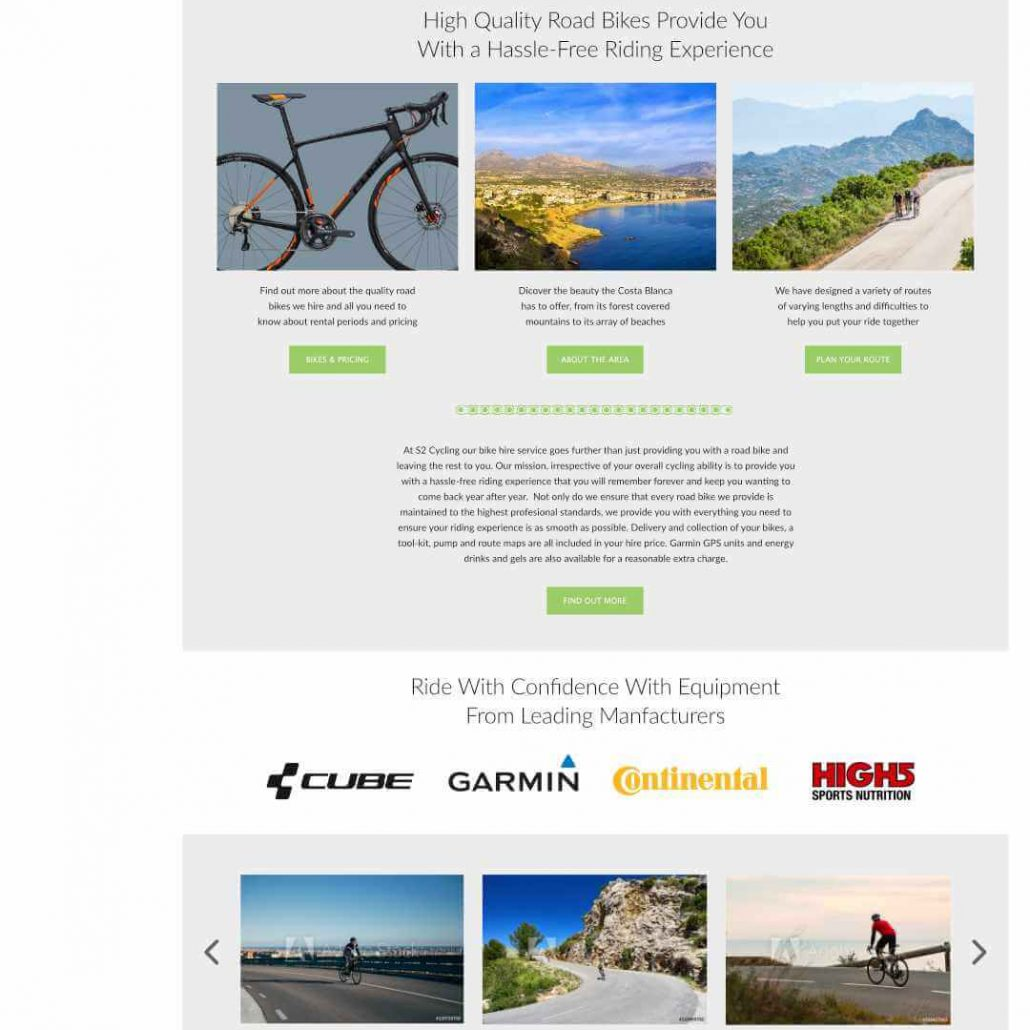S2 Cycles Website Design