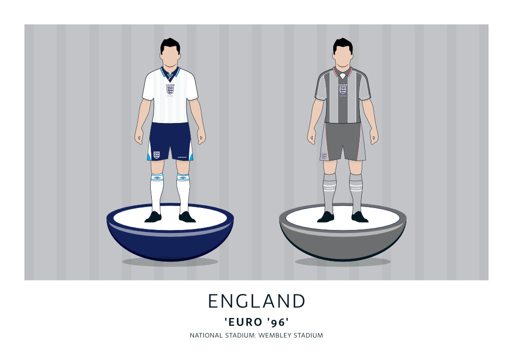 England Euro '96 Home + Away