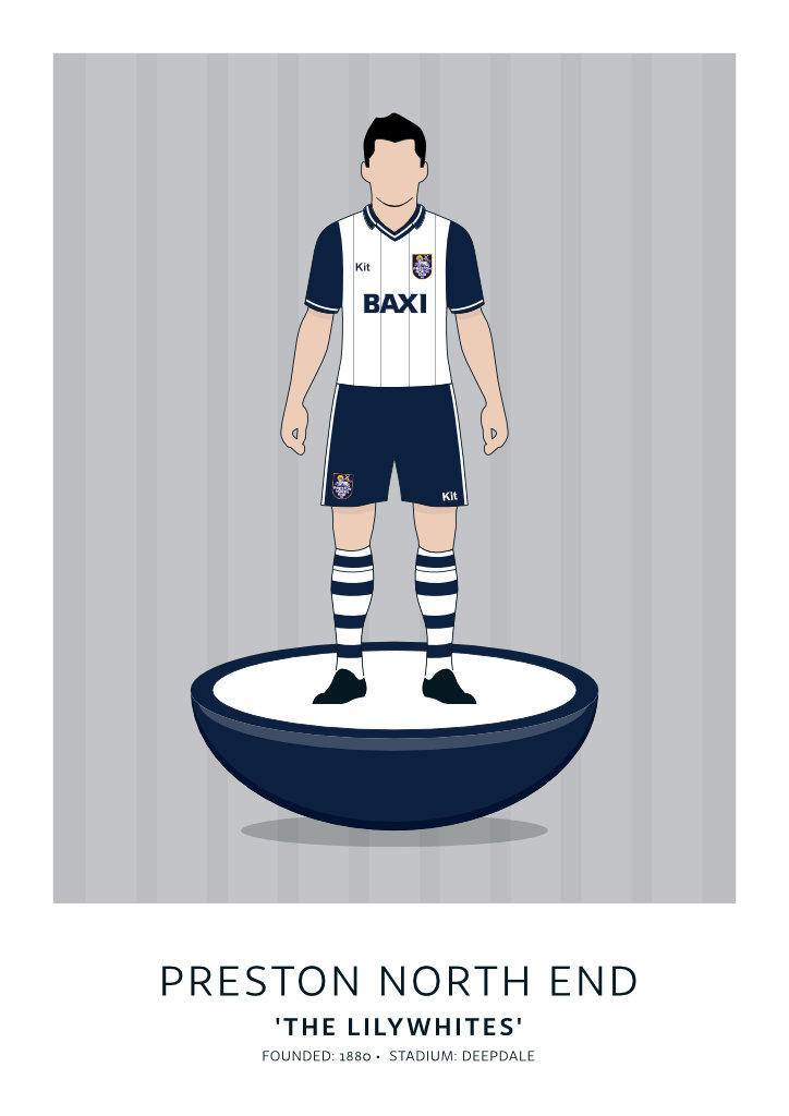 "Preston North End ""Baxi"" 96-98"