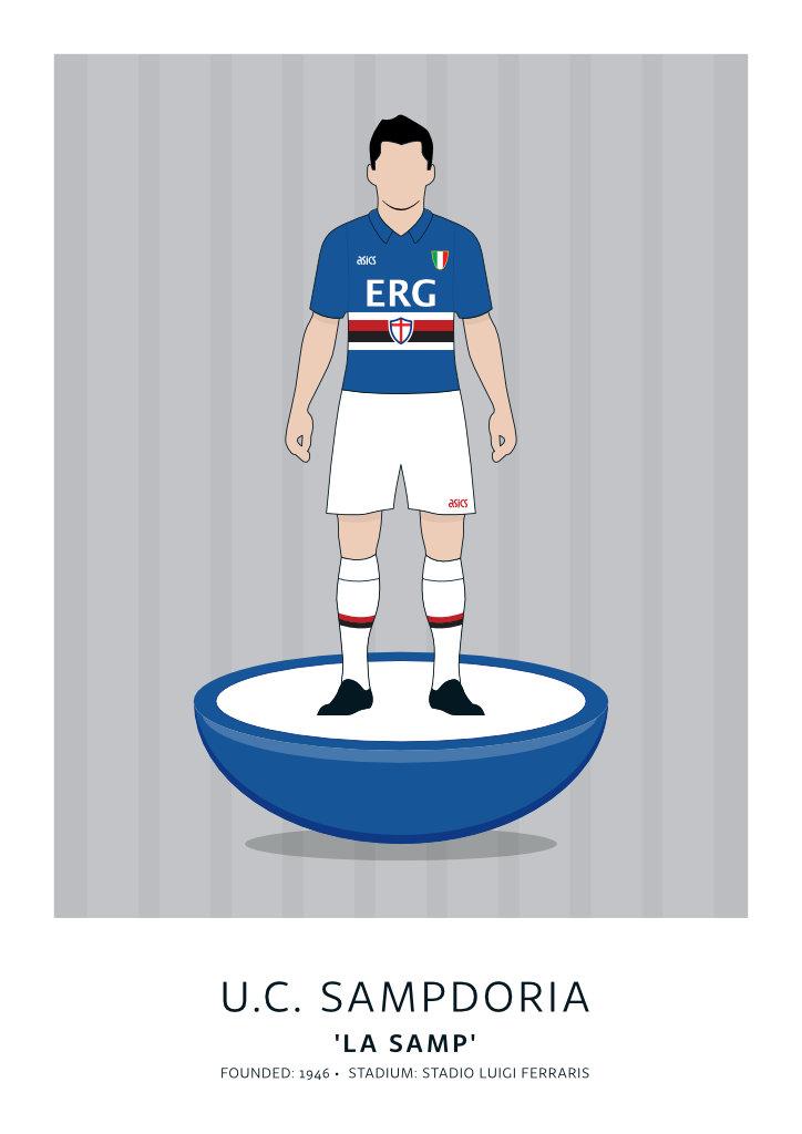 """U.C. Sampdoria """"ERG"""" 90-91"""
