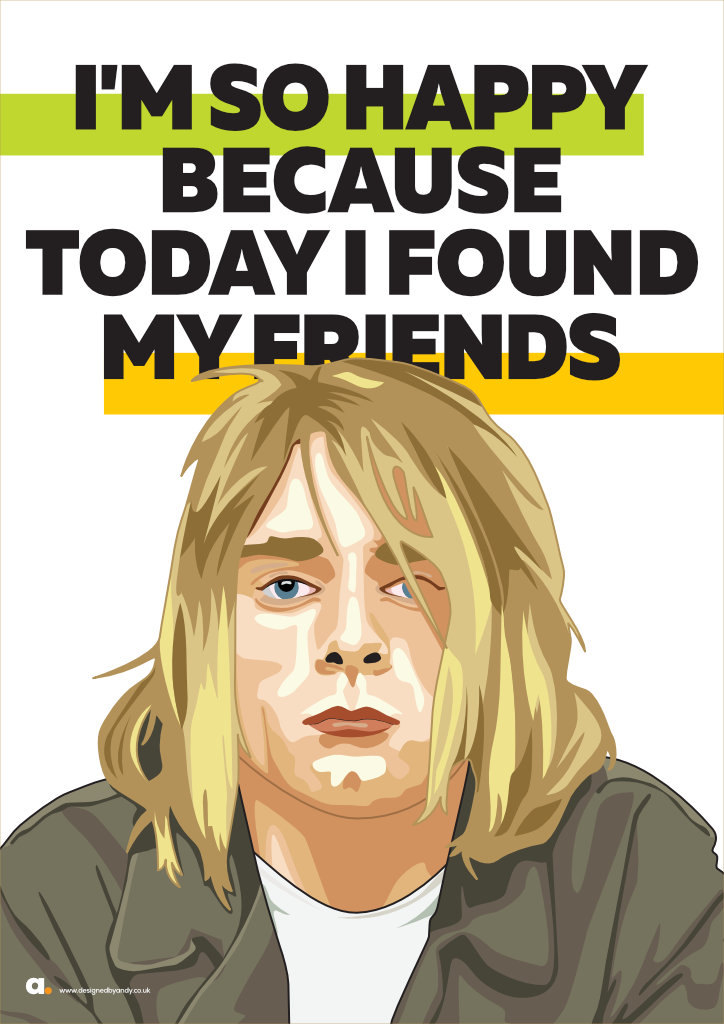 Designed By Andy Kurt Cobain Lithium